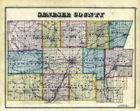 Genesee County Map, Genesee County 1876